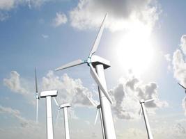 Wind mills, renewable energy. photo