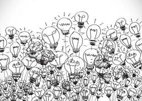Concept of idea inspired bulb shape