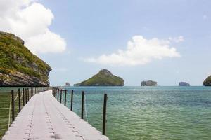 Little Bridge in the sea in Mu Ko Ang Thong photo