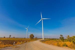 Wind turbine power generator in Thailand photo