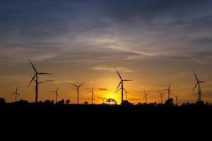Wind Turbine Farm at Twilight photo
