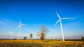 Wind turbine generator. photo