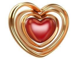 forma de coração de ouro