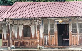 Traditional wooden villa of Taiwan photo