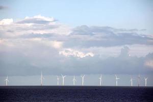 wind turbine power station in the sea, UK