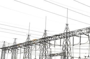 High power station for making Electricity on white background photo