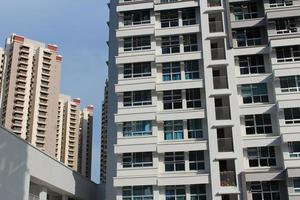 Residential housing apartment blocks in Singapore