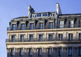 The upper floors of a residential building in Paris