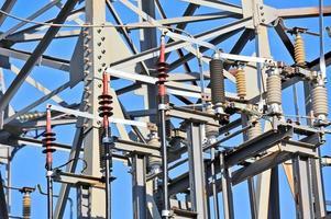 AC substation high voltage photo