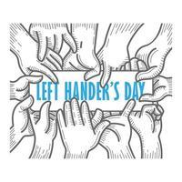 carta di giorno per mancini con le mani che tengono il testo