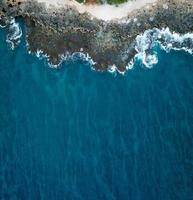 Aerial photography of blue sea photo