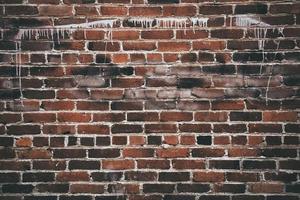 parede de tijolo marrom