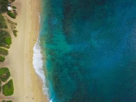Aerial photography of tropical seashore photo