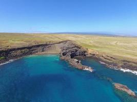 High angle photography of blue sea
