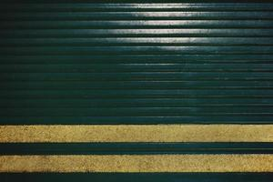 Green metal door