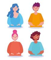 Set of diverse characters vector