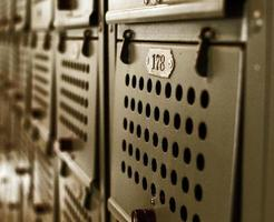 Close-up of metal locker