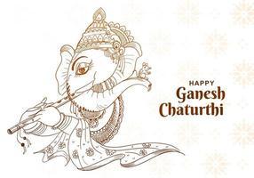 boceto estilo ganesh chaturthi diseño en patrón ornamental