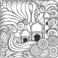 Ramadan kareem, eid al fitr islamic mosque design