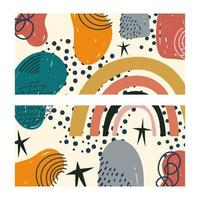 Abstract and hand-drawn contemporary shapes template
