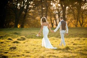 beautiful couple walking photo