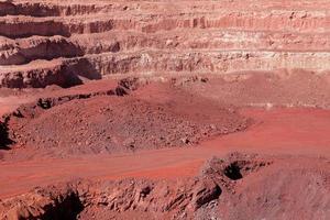 minería de mineral de hierro foto