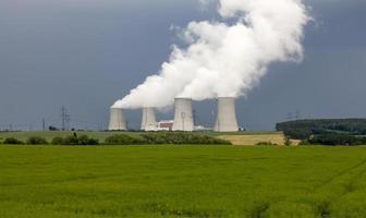 Nuclear power plant Temelin in Czech Republic photo