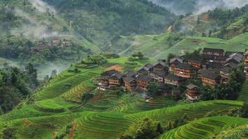 Longsheng com terraço