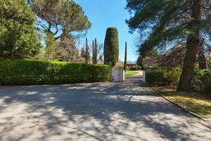 entrance of a villa, outdoors