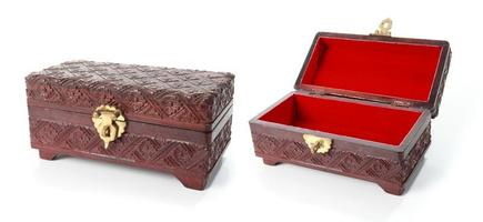 Open and closed treasure chest