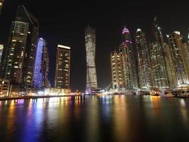 El horizonte de Dubai, Emiratos Árabes Unidos