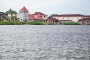 Picturesque settlement on the bay photo