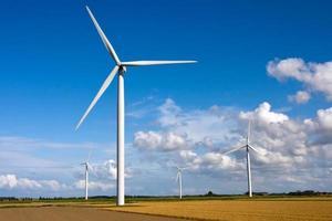 Windmill on a field photo