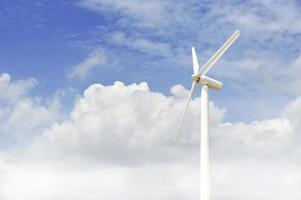 wind turbine generating electricity photo