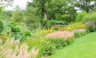 Jardines en Rosemore, Torrington, en Devon, Inglaterra, Reino Unido.