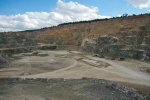 aerial view of open-pit