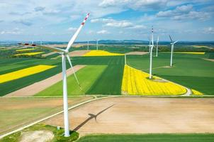 Windmills aerial view