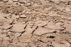 Cracked Dry Mud of Muddy Salt Road Skeleton Coast, Namibia