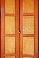 Asian style wooden door with lock