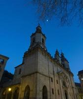 Nocturne church and blue sky photo