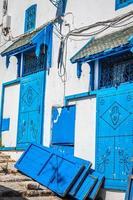 Street in the town of Sidi Bou Said, Tunisia