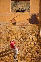 Holiday heroes climbing