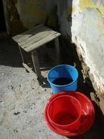 Red Blue Buckets photo