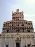 Facade Church San Michele Lucca, Italy photo