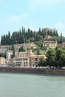 Castle in the middle of Verona Italy photo