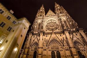 facade of st. vitus cathedral in prague