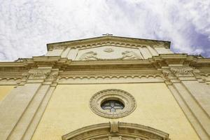 Facade of church in Salve, Salento, Lecce.