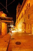 Muristan Street near Holy Sepulcher Cathedral at Night, Jerusale