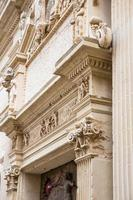 Detail of the cathedral's facade in Lecce, Italy. photo