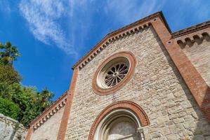 Facade of XIV Catholics parish church in Italy